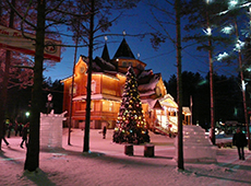 Новогодняя ель на родине Деда Мороза в Великом Устюге