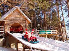 Веселые зимние развлечения на родине Деда Мороза