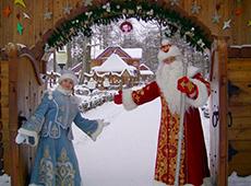 Дед Мороз и Снегурочка в своей резиденции