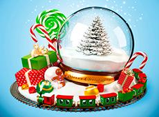 Традиционный волшебный новогодний шар