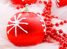 Красный новогодний шар