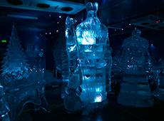 Фантастичнеские ледяный скульптуры на Вотчине Деда Мороза