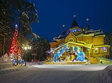 Красивый дом Деда Мороза