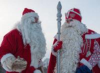 Русский и финский Деды Морозы встретятся на границе
