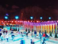 На катке в Парке Горького появится замерзший фонтан